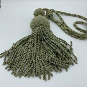 Extra Large Sage Green Decor Tassel tieback